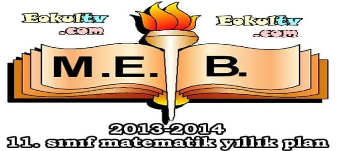 2013-2014 öğretim yılı 11. sınıf matematik ünitelendirilmiş yıllık plan