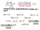 Denklem çözme konusu soru çözümleri videolu