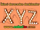 İkinci dereceden denklemler 10. Sınıf