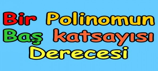Bir polinomun derecesi, baş katsayısı ve sabit terimi