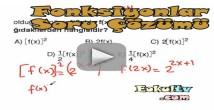 Fonksiyonlar soru çözümleri videosu