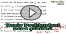 Kesir problemleri soru çözümleri videosu
