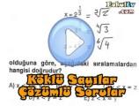 Köklü sayılar çözümlü sorular videosu