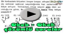 Obeb – Okek soru çözümleri videosu