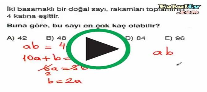 Sayı sistemleri çözümlü sorular video