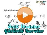 Üslü sayılar çözümlü sorular videosu