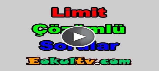 Limit soru çözümleri