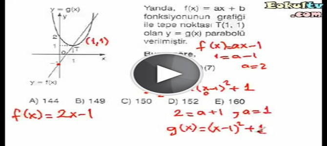 Parabol soru çözümleri