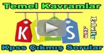 Kpss temel kavramlar çıkmış soru çözümleri