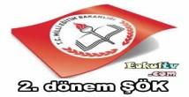 2014 – 2015 Öğretim yılı 2. dönem Şök tutanağı