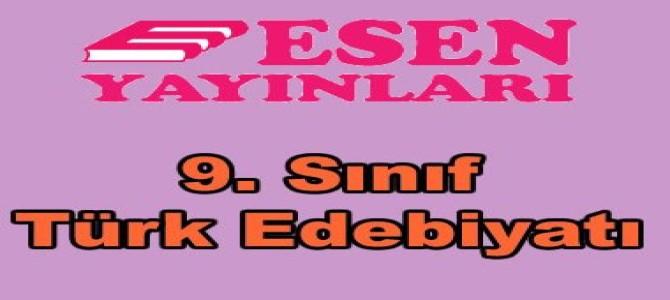 9. sınıf Türk edebiyatı soru bankası Esen yayınları