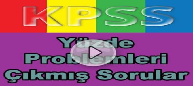 Kpss matematik yüzde problemleri çıkmış soru çözümleri