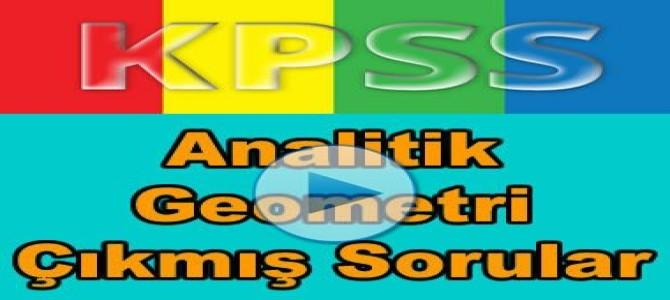 Kpss analitik geometri çıkmış soru çözümleri