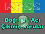 Kpss geometri doğruda açılar çıkmış soru çözümleri