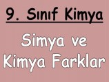 Simya ve Kimya Arasındaki Farklar