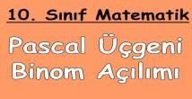 Pascal Üçgeni ve Binom Teoremi 10. sınıf