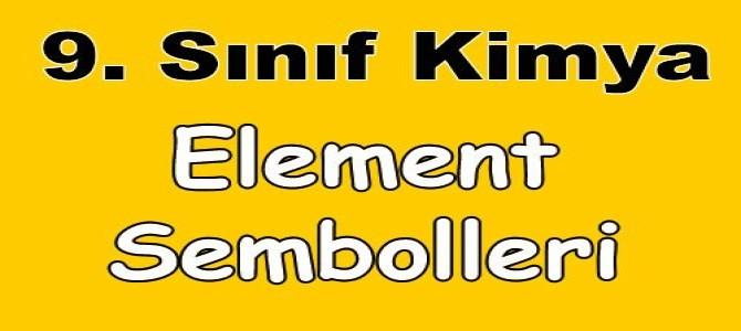 Element Sembolleri