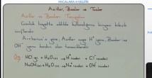 Asitler, Bazlar ve Tuzlar 10. sınıf kimya