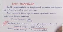 Basit Makineler konu anlatımı video 11. sınıf fizik