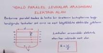 Düzgün Elektrik Alan konu anlatımı video 11. sınıf fizik