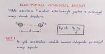 Elektriksel Potansiyel Enerji video konu anlatımı 11. sınıf fizik