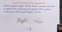 Elektromanyetik Dalgalar konu anlatımı video 12. sınıf fizik