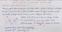 Kütle Çekim Kuvveti ve Kepler Kanunları video konu anlatımı 12. sınıf fizik