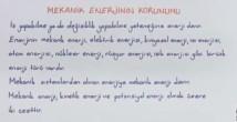 Mekanik Enerjinin Korunumu video konu anlatımı 11. sınıf fizik