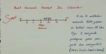 Basit Harmonik Hareket video Soru Çözümleri 12. sınıf fizik