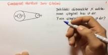 Çembersel Hareket Soru Çözümleri video 12. sınıf fizik