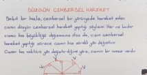 Düzgün Çembersel Hareket video konu anlatımı 12. sınıf fizik