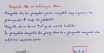 İndüksiyon Akımı ve Öz İndüksiyon Akımı konu anlatımı video 11. sınıf fizik