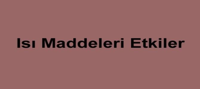 Isı Maddeleri Etkiler 5. Sınıf