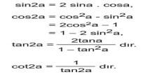 Yarım Açı Formülleri 12. Sınıf