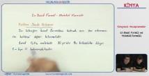 Basit Formül ve Molekül Formülü konu anlatımı video 12. sınıf kimya