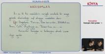 Homojen ve Heterojen Karışımlar konu anlatımı video 10. sınıf kimya