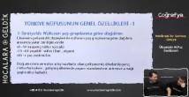 Türkiye'de Nüfusun Yapısal Özellikleri konu anlatımı video 10. sınıf coğrafya