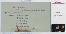Gaz Karışımları konu anlatımı video 11. sınıf kimya