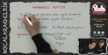 Karboksilik Asitler konu anlatımı video 12. sınıf kimya