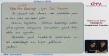 Yükseltgenme Basamakları konu anlatımı video 11. sınıf kimya