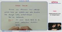 Gazlarda Kinetik Teori 11. sınıf kimya