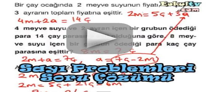 Sayı problemleri soru çözümleri videosu