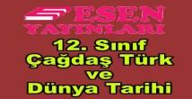 12. sınıf Çağdaş Türk ve Dünya Tarihi soru bankası Esen yayınları