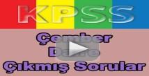Kpss geometri çember ve daire çıkmış soru çözümleri
