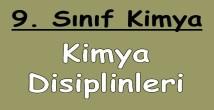 Başlıca Kimya Disiplinleri