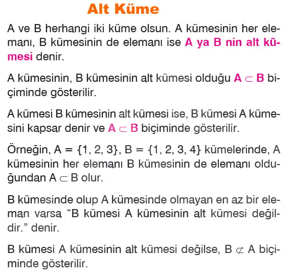 Alt Küme