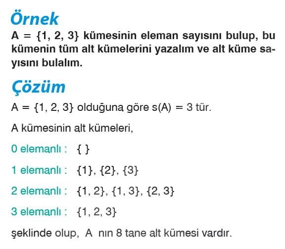Alt kümenin özellikleri örnek 1