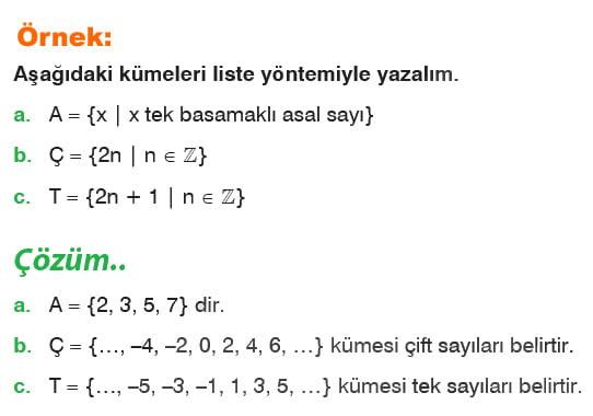 Ortak özellik yöntemi örnek soru 2