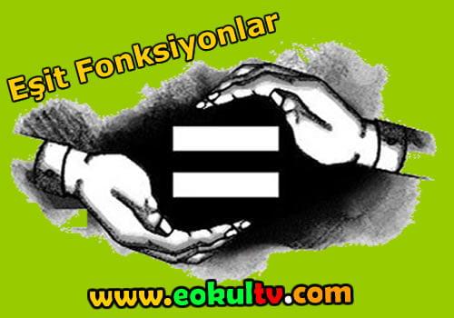 Eşit fonksiyonlar nedir?