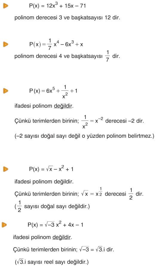 Polinomlar Konu Anlatımı çözümlü Sorular Ders Notu 10 Sınıf